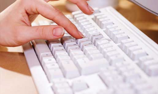 Contact Us - Keyboard