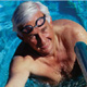 Senior male in swimming pool